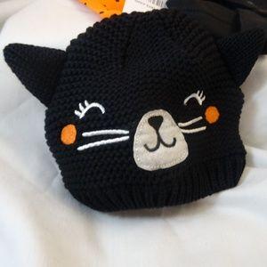 Carter's Black Knit Cat Hat 3M
